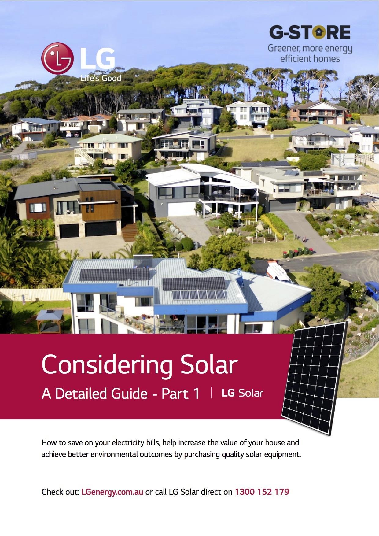 LG Considering Solar Part 1